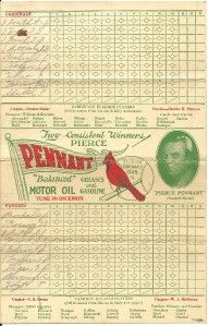 1928 World Series Scorecard (St. Louis Cardinals vs NY Yankees)