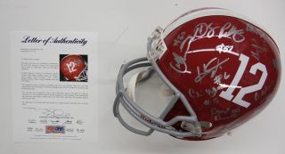 2012 Alabama Crimson Tide Team Signed Helmet PSA DNA LOA S73110