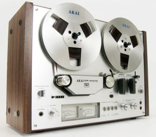 AKAI GX 4000D REEL TO REEL DECK GLASS & XTAL HEADS W EQ * NICE!