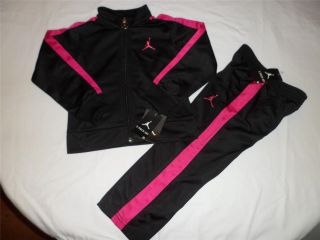 NWT New Nike Air Jordan Girls Jacket Shirt Pants Track Outfit Set SZ 2