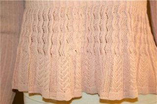 Vintage ALAIA  PARIS Peach Viscose w/Decorative Knit Ladies Top Blouse