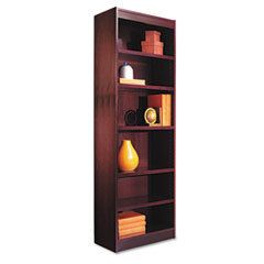 New Alera BCS67224MY Narrow Profile Bookcase Wood Veneer 6 Shelf 24W x