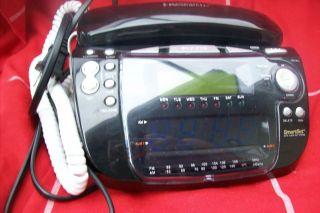 EMERSON SMARTSET AUTO RESET CLOCK RADIO 2 ALARM CKT 9100 WORKS HOME