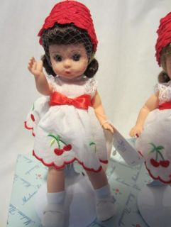 Madame Alexander Cherry Twins Dolls with Stands