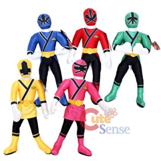 Power Rangers Samurai Plush Doll Set 15 Large 5pc Stuffed Toy Set