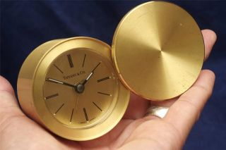 and special promotions tiffany co gold authentic travel alarm clock