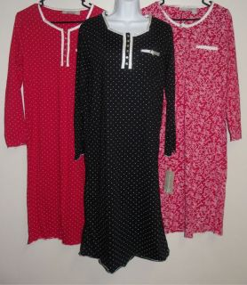 Allyson Whitmore Womens Nightgown Pajamas Size Small Medium Large 1x