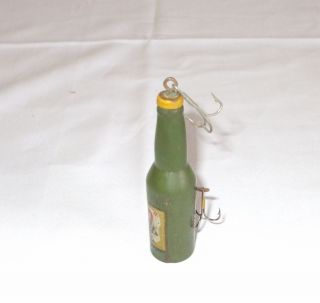 Vintage Cooks 500 Ale Beer Bottle Racing Car Fishing Lure Bait RARE