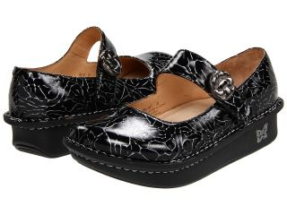 Alegria Womens Paloma Etched Black Patent Leather Mary Jane Shoes PAL