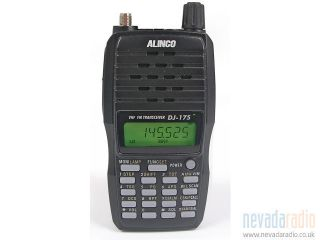 Alinco DJ 175E 145Mhz VHF Band (2m) 5 Watts Handheld Transceiver   EX