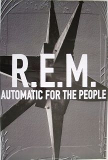 AUTOMATIC FOR THE PEOPLE U.S. PROMO POSTER   ALTERNATIVE ROCK BAND