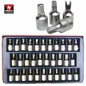 Key Allen Tamper Proof Tork Tri Wing Wrench Socket Tool Set Kit