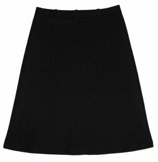 Alfred Dunner Sz 12 A Line Womens Black Skirt KI50