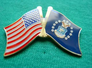 Proud Flying Air Force American Flag USAF Lapel Pin