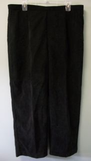 Alfred Dunner Womens Black Corduroys Pants 18W 18 w New