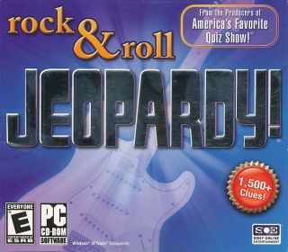Jeopardy Rock Roll Edition Quiz Show PC Game New 705381153207