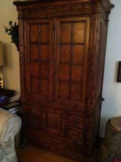 Amish Corner Tv Armoire Entertainment Center Lcd Led Solid