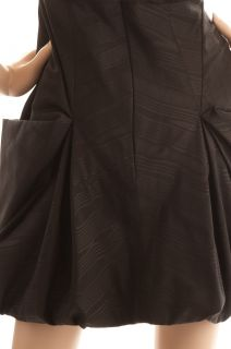 BCBG Max Azria Sleeveless Amerie Black Taffeta Cocktail Dress Size 12