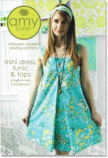 Amy Butler Mini Dress Tunic and Tops Sewing Pattern New