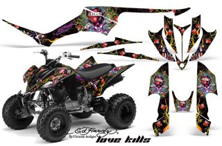 AMR Graphic Kit Yamaha Raptor 350 ATV Stickers Ed Hardy