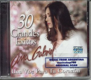 ANA Gabriel 30 Grandes Exitos Una Voz 2 CD Set SEALED