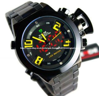 WEIDE Mens Analog Digital LED Day Date Sport Watch