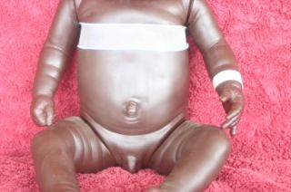 anatomically correct black baby boy doll by netta