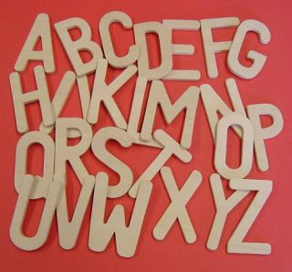 Upper Case Wooden Letters Alphabet Templates 80mm High