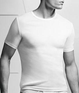 Hugo Boss Pure Cotton Rib Crew Neck T Shirt 50125014