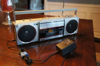 PANASONIC AMBIENCE RX F5 PORTABLE BOOM BOX AM FM CASSETTE PLAYER RADIO
