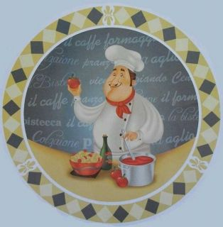 FAT CHEF BISTRO STOVE BURNER COVER SET HOME KITCHEN INTERIOR DECOR