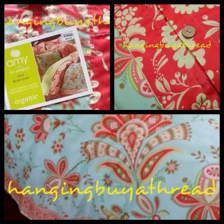 Amy Butler Sari Bloom New Organic Twin Duvet Cover Paisley Floral NWTS