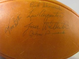 1961 Green Bay Packers World Champions Team Autographed Leather