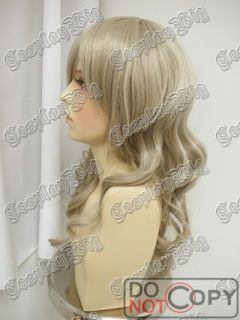 50cm long KHAKI GREY ASH BLONDE cosplay WIG When they Cry ANGER SATAN