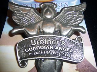 Brother Guardian Angel Visor Clip Metal Car Auto Wings