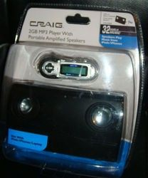 Craig CMA3500E 2GB  Player With Portable Amplified Speakers