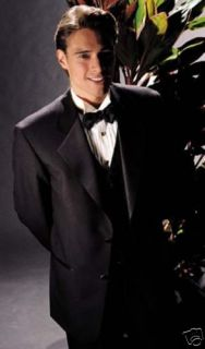 Andrew Fezza 2 Button Notch Lapel Tuxedo 42S 36 Waist