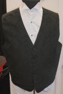 Andrew Fezza Celebrity Paisley Black Vest All Sizes