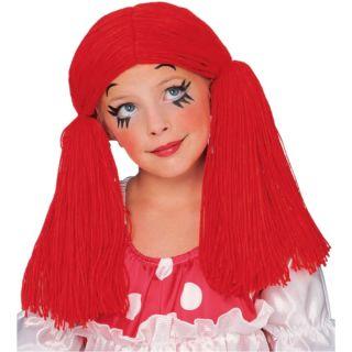 Rag Doll Girl Wig Raggedy Ann Anne Child Costume Wig 50854