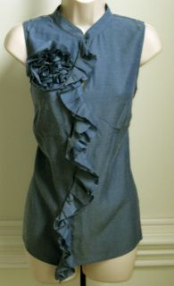 The Limited Womens Sleeveless Top Shirt Blues New Discount