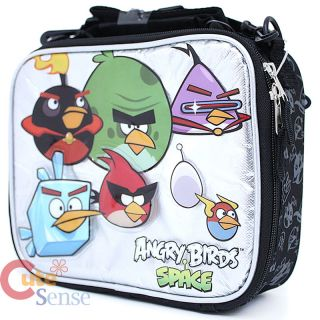 Angry Birds Space School Backpack 16 Large Bag with Lunch Snack Bag