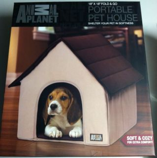 Animal Planet Fold Go Portable Dog Pet House Home Indoor Pups New