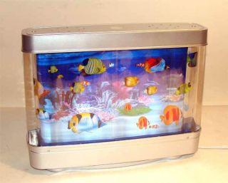 Living Aquarium Animated Swimming Exotic Fish Lamp New