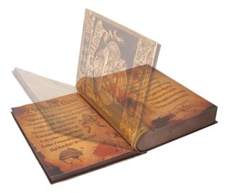 Dark Magic Book Animated Prop Gothic Witch Decoration Halloween Scary