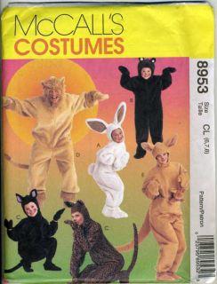 Animal Costume Pattern for Kids Lion Bear Kangaroo 6 8