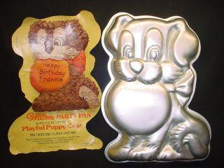 Puppy Cake Pan Pup Dog Mold Doggie Pet Animal Tin Insert