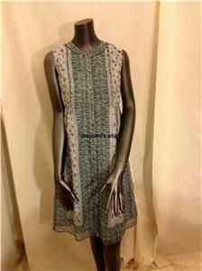 Anna Sui for Anthropologie Elfine Shift Silk Dress Shirtdress