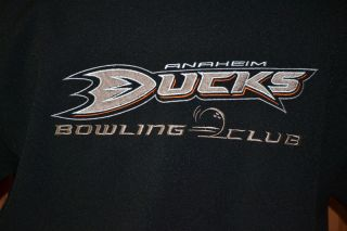 Anaheim Ducks Bowling Club Pepsi Steady Customs Black Orange Shirt