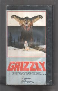 Grizzly Christopher George Andrew Prine 1976 RARE VHS
