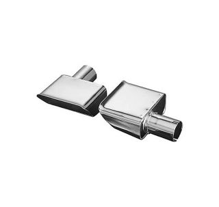 exhaust tips stainless steel polished set of 2 2 in inlet diameter 3